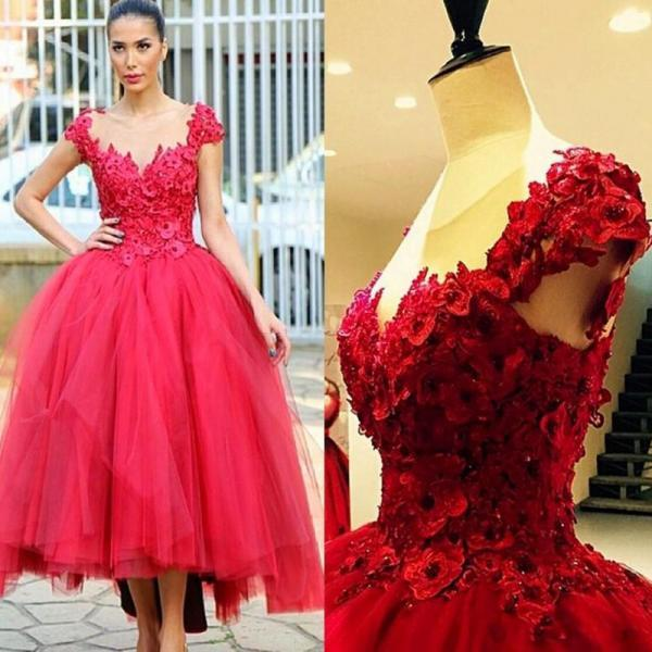 A line New Elegant Sweetheart Backless Cap Sleeve Appliques Ballkleider Long Red Prom DressesA line New Elegant Sweetheart Backless Cap Sleeve Appliques Ballkleider Long Red Prom Dresses