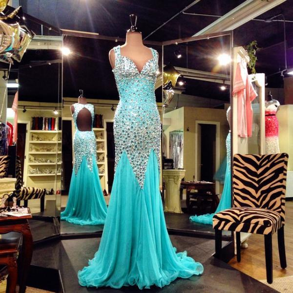 Cheap prom dresses 2017,Keyhole Back Full Crystal Beads Sheath Evening Prom Dresses 2017