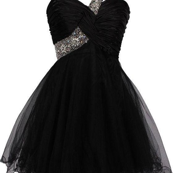 Black Sexy One Shoulder Homecoming Dress 2017