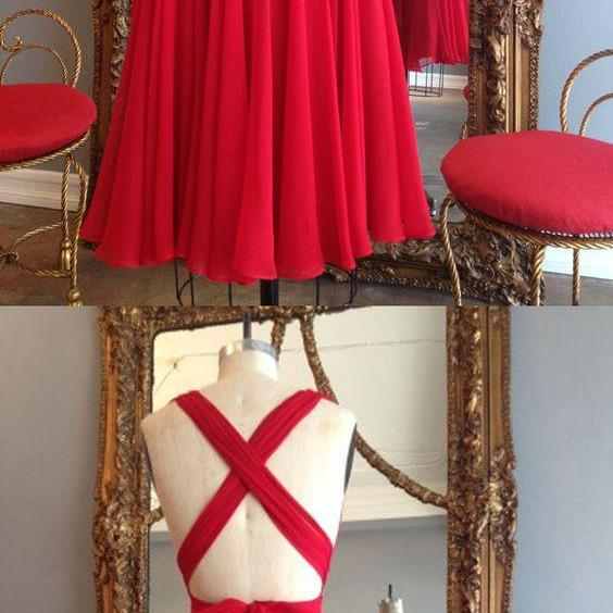 short red homecoming dress party dress, short red dancing dress party dress