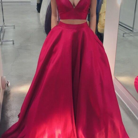 crop top prom dresses