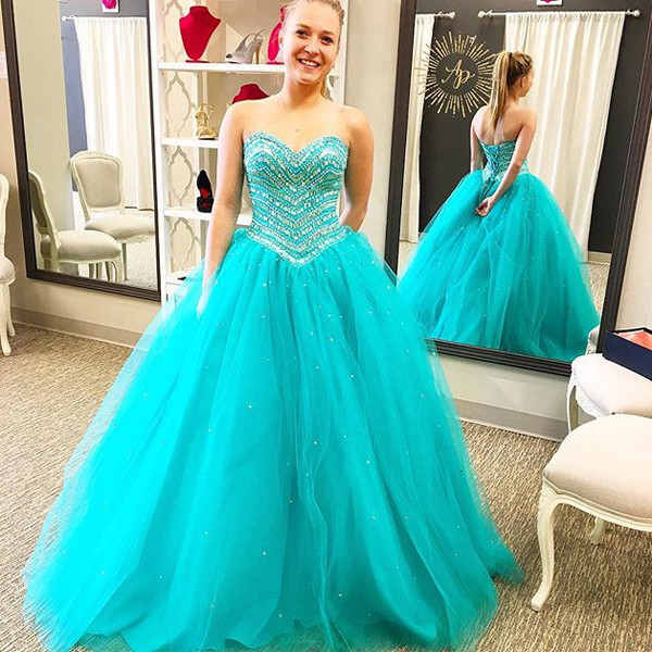 Cheap Prom Dresses 2017,Prom Dress,Aqua Prom Dress, Prom Gown, Quinceanera  Dress,Heavy Beaded Prom Dress,Long Prom Dress,Prom Dress Cheap,Affordable  ...